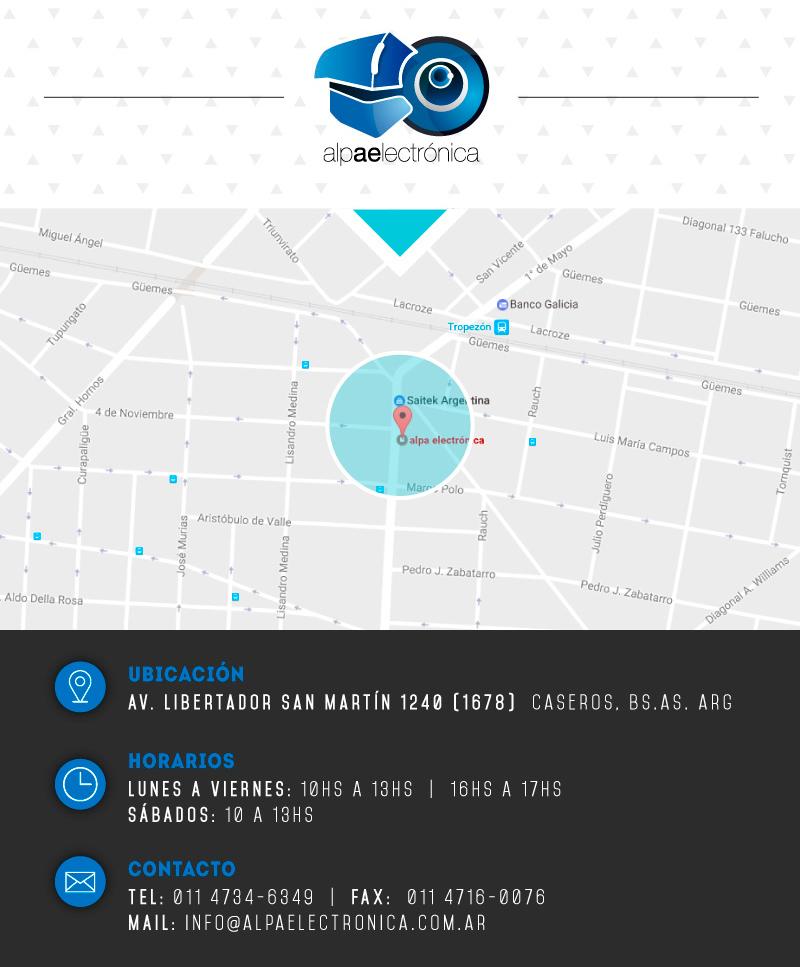 medios de contacto, ubicacion: Av. del Libertador 1240, caseros, buenos aires, argentina
